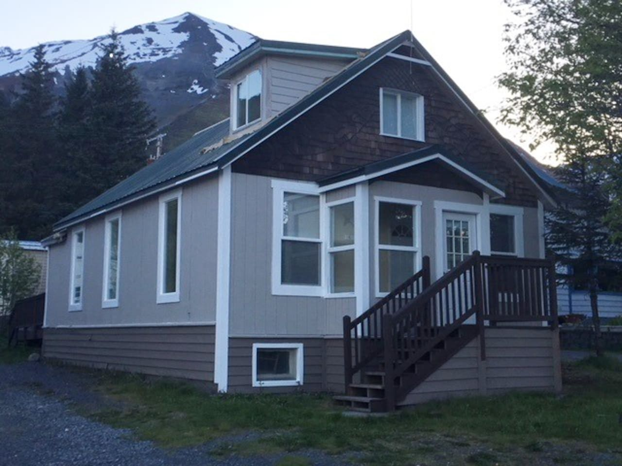 1913 Charm with beautiful views of Resurrection Bay.  Quiet hideaway close to heart of downtown. Beautiful view of Resurrection Bay from front steps