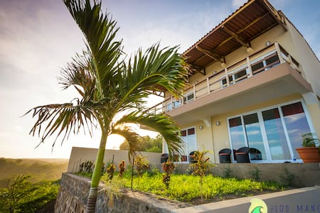 4 ocean view rooms with a/c at Punta Mango
