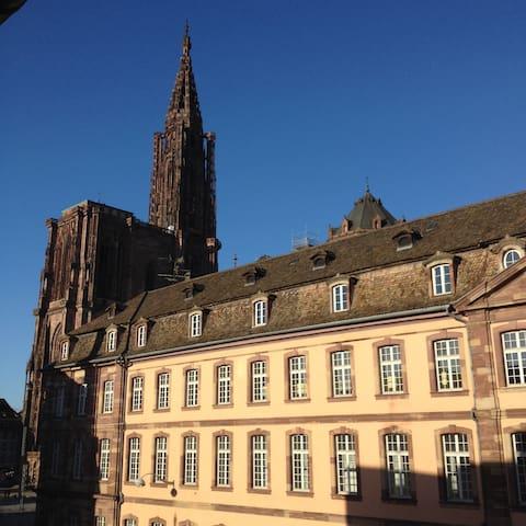 Vue dégagée sur la cathédrale - Strasbourg - Huoneisto