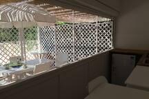 Terrazzo con cucina esterna