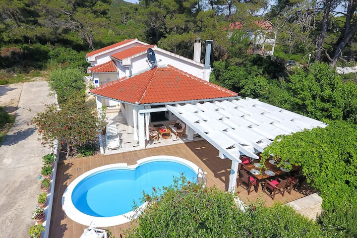 Spacious Holiday Home in Molat with Pool