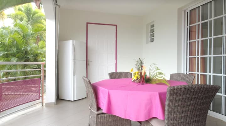 Apartment with one bedroom in Sainte-Luce, with shared pool, furnished garden and WiFi - 2 km from the beach
