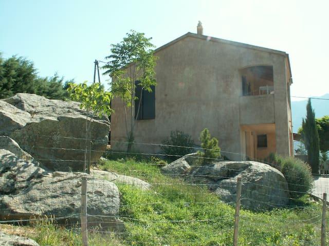 rez chaussée indépendant sur jardin - Calacuccia - House