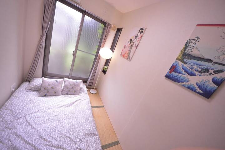 15.mujihouse-文艺主题房 出行超方便 免清洁费、免人头费 - Ōsaka-shi - Apartment