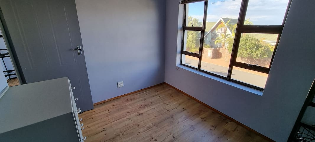 Second bedroom. Can be furnished with double bed or double bunk stack bed, baby bath and dresser in room