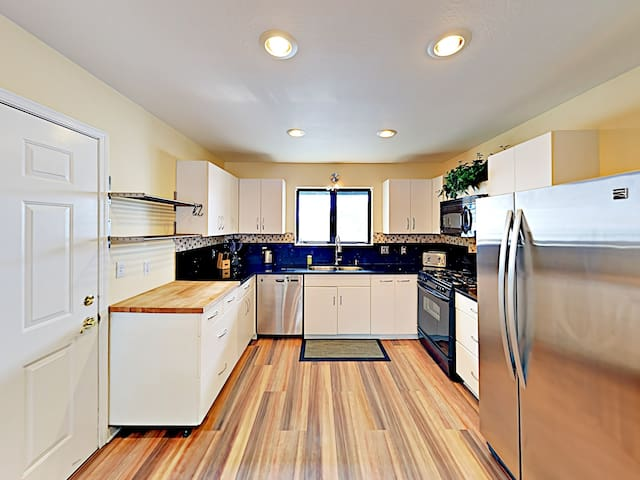 A modern kitchen includes all the gadgets and cookware needed to prepare favorite meals.