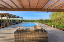 Pool area upper deck