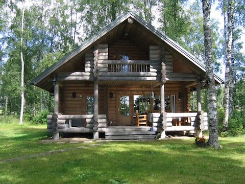 Koskelan Huvila - Cottage by the lake, sauna, wifi