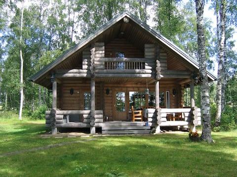 Koskelan Huvila - Domek nad jeziorem, sauna, wifi
