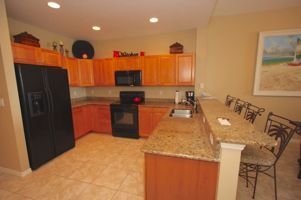 Fully Equipped Kitchen with Granite Counter Tops-Perfect for Meals Large and Small