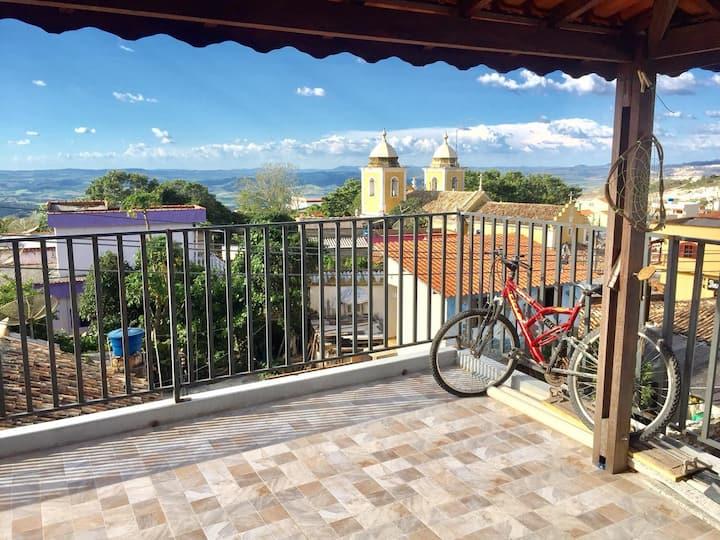 Terraço com linda Vista no centro (Casas Label ST)