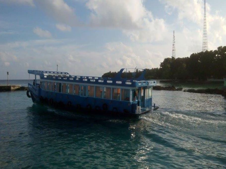 "Ferry to capital city ""Male' """