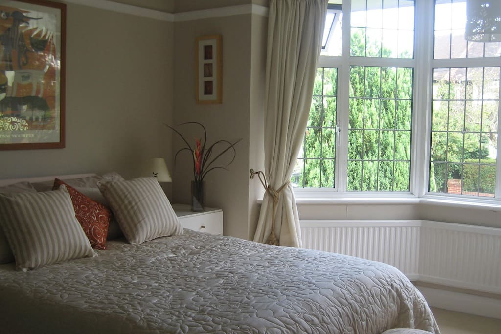 Guest Room with large Bay Window