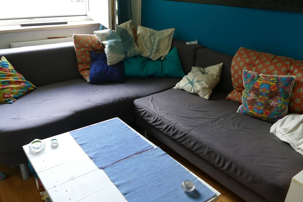 Ausziehbare Couch / extractable bed couch