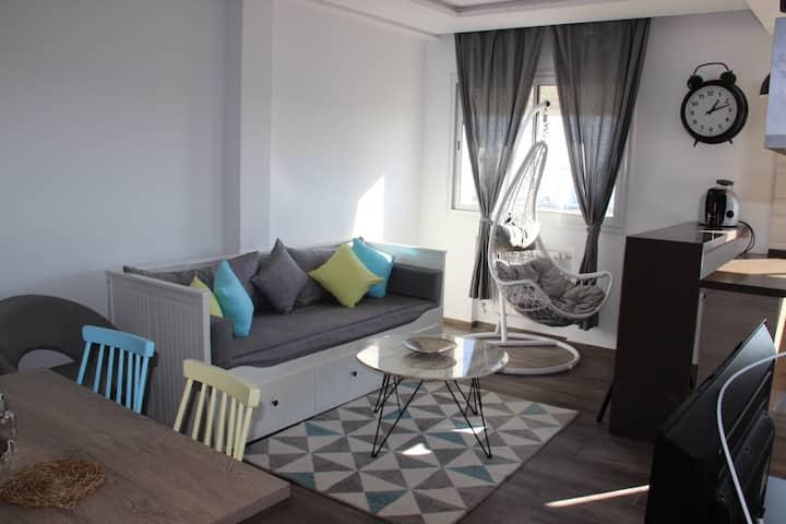 Elegant rooftop apartment- Hammamet- Mrezgua