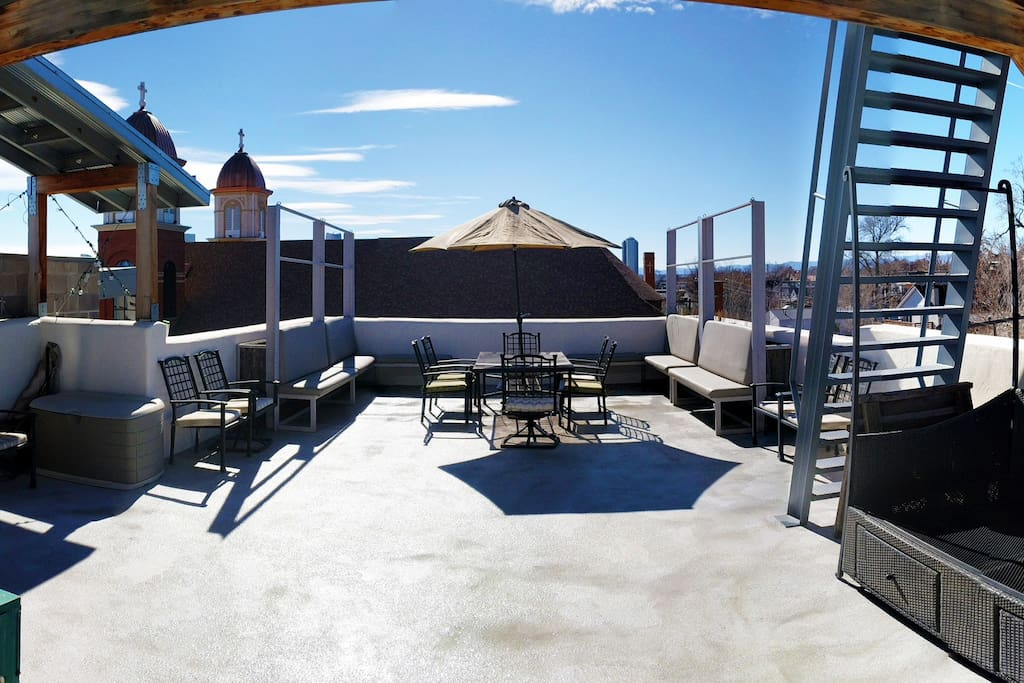 You will love what is hands down the best rooftop in Denver.  Room for entertaining, lounging and sunbathing, our custom patio is access from a spiral staircase.