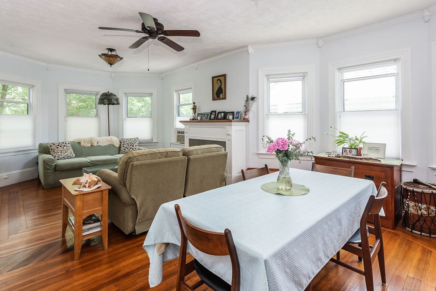 East Side, Light filled, airy living room and dining room