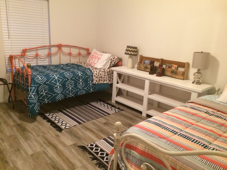 Add bunkbed cots for $5 per person. Increase sleeping for four more.