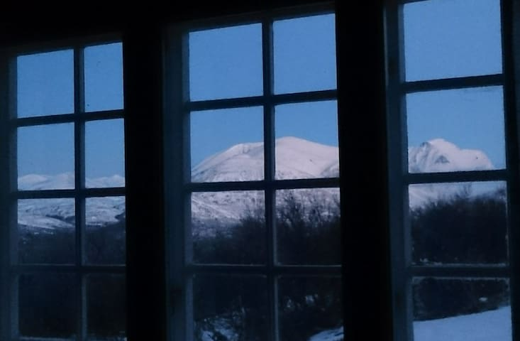 View of Rondane from the dinner table