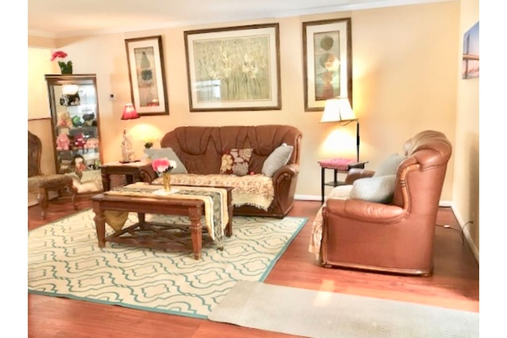 Big Living room opens up to the Den