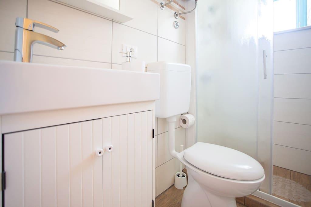 Separate room bathroom