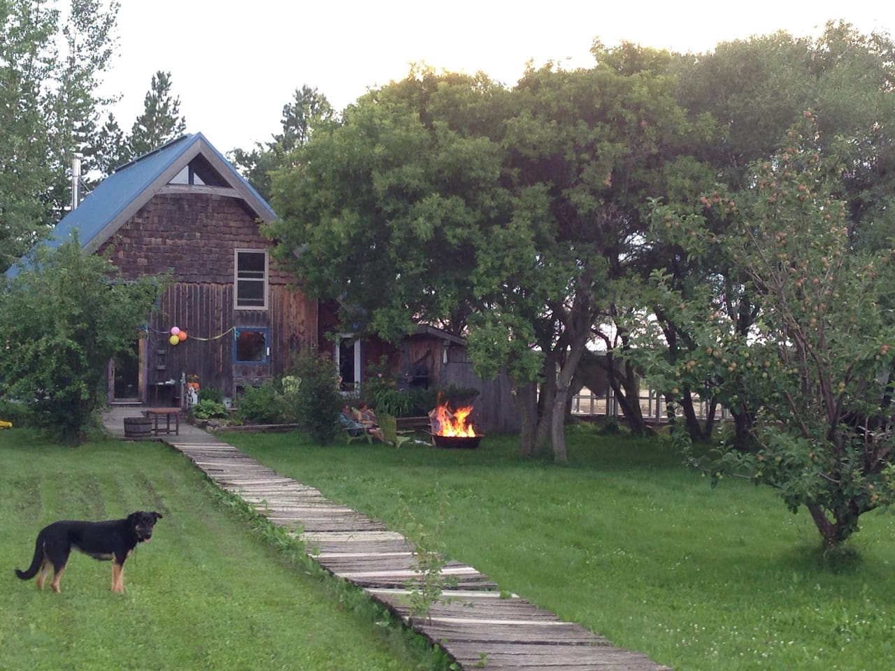 Cozy Timber-Home on a pretty little acreage near Boissevain; just 15 minute North of Turtle Mountain Provincial Park.