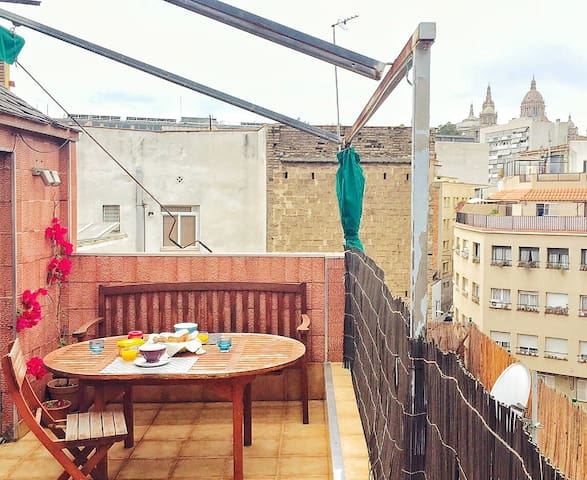 Poble Sec, Rooftop, double room - Barcelona - Pis