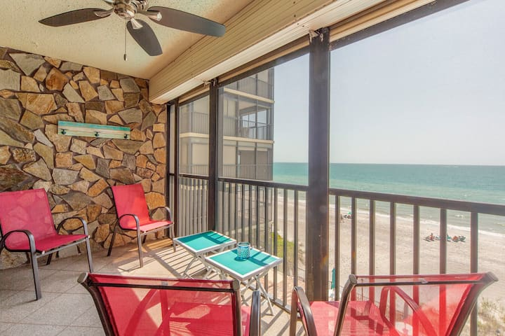 Direct Beachfront On Quiet Stretch of Madeira Beach - Free WiFi - 30 day rental - Shores of Madeira - #303 Shores of Madeira