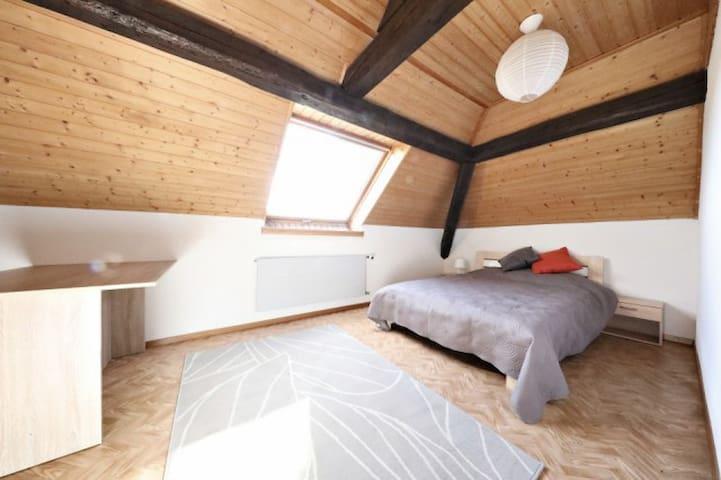 Chambre double à Lausanne avec sdb semi-privée - Lausanne - Huis