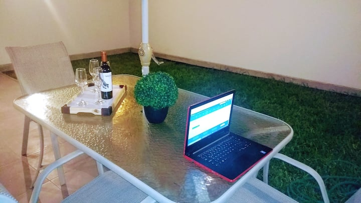 Fancy apartment ,1° floor,garden,terrace,fast wifi
