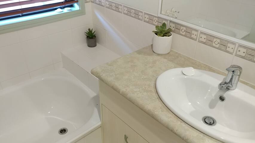 Bathroom with separate tub