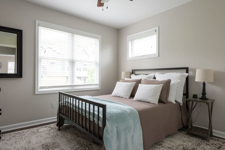 Full Bedroom Upstairs  - Includes SmarTV with built-in Amazon Firestick for use of your streaming services!