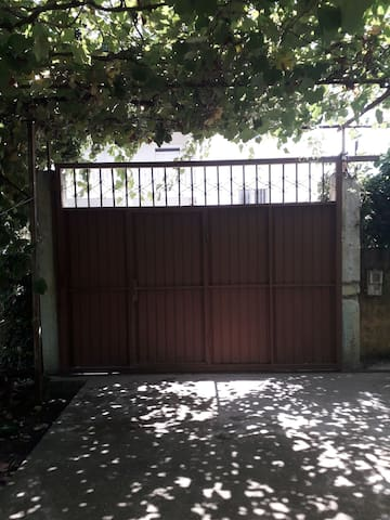 Gate color of the main house entry