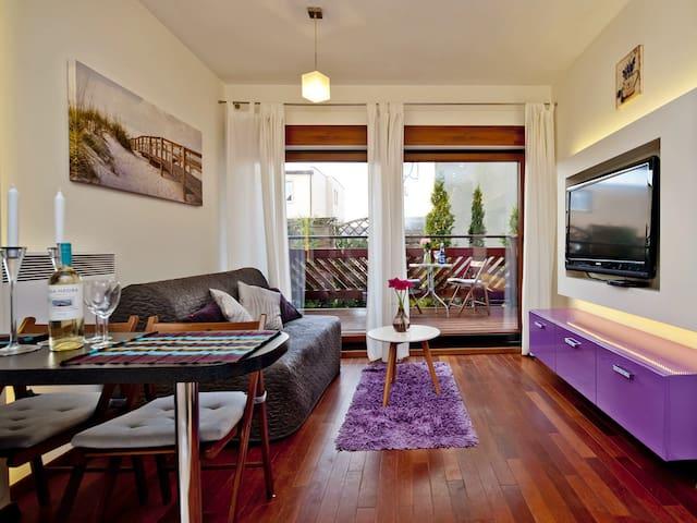 Klimatyczny apartament przy samej plaży NP3