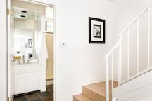 Downstairs bathroom entrance