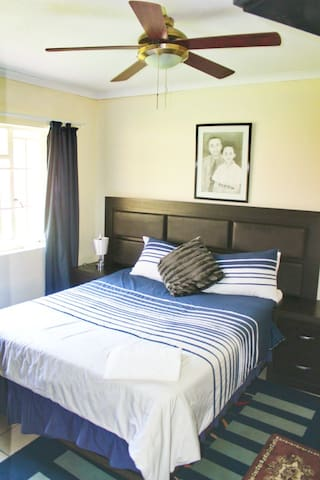 Bedroom 3 with direct access to bathroom which can be made ensuite when  in use.