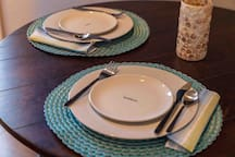 Inside Bistro Table Dinnerware