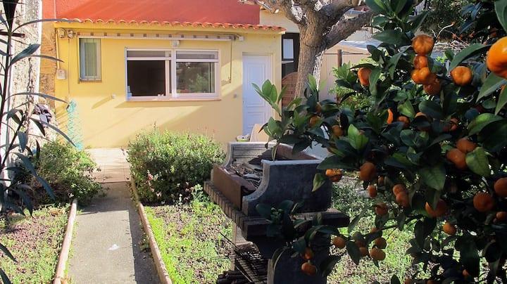 Appartement en bord de mer au calme avec jardin