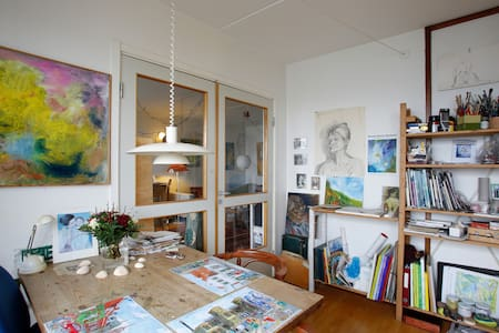 Gæsteværelse hos kunstner. - Roskilde - Apartament