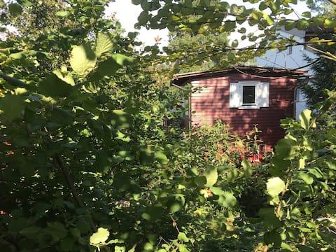 Wooden Hut in idyllic settlement