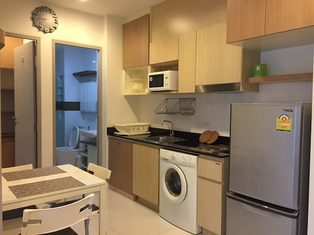 1min walk from BTS On-Nut/ 45sqm.2BR/up to 5 ppl