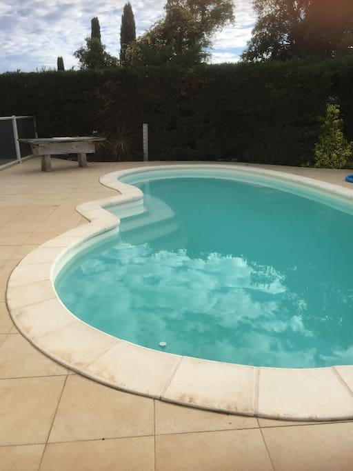 une piscine !