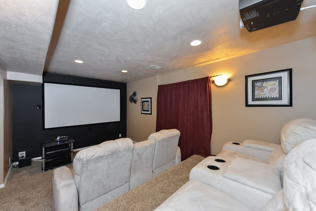 Movie theater with stadium recliner seating