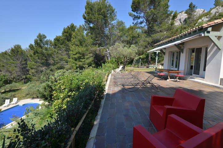 Mas en Provence, piscine - Les Baux-de-Provence