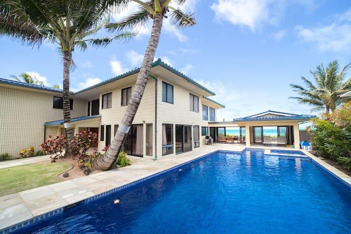 Fantastic 5 BR Beach front Villa