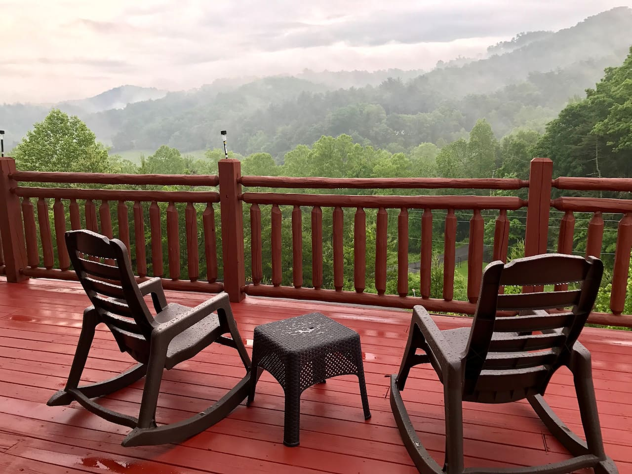 view on a rainy  day