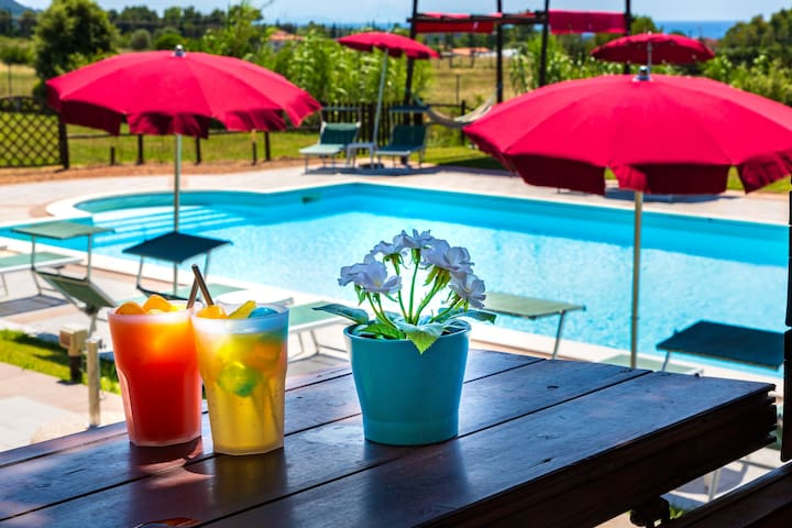 Villa Liburnia B&B w/pool and sea view TULIP ROOM