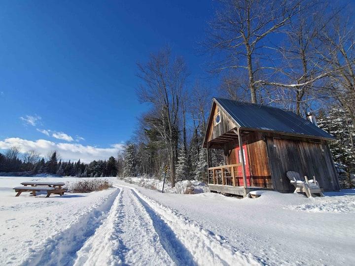 Cabane dans le bois sur le complexe ULM Québec