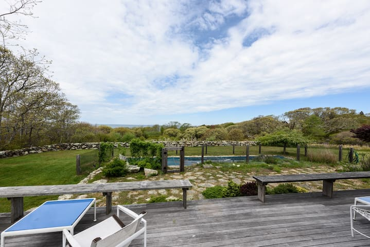 Classic Chilmark Retreat with Water Views