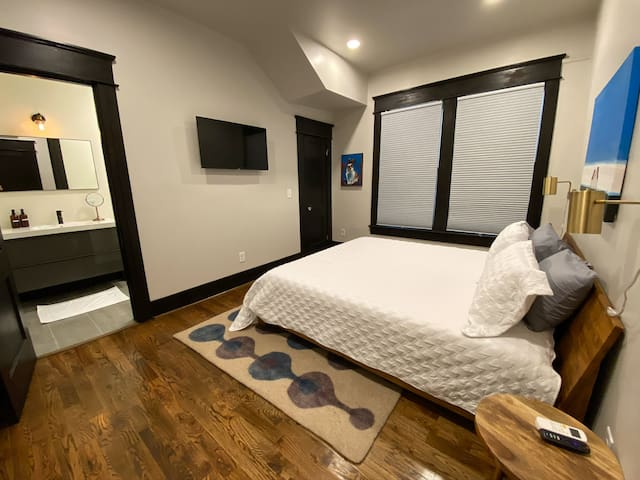 The master bedroom, with private ensuite and walk-in closet, is a special retreat.